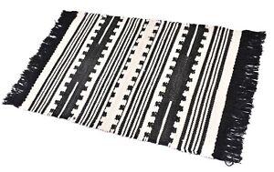 2X3. Area Rug Decorative Carpet Bedroom Rug Black & White Wool Rug Bohemian Dari