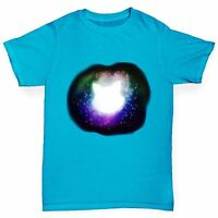 Twisted Envy Boy's Galactic Cat Premium Cotton T-Shirt