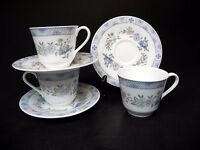 Royal Doulton Bone China Coniston H5030 Cups & Saucers (set of 3)  ..