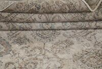 Antique AllOver Floral Muted Tebriz Traditional Hand-Knotted Area Rug Wool 10x15