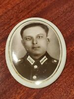 WW2 German soldier glass war old wehrmacht picture heer army old oval portrait