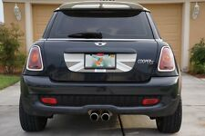 Mini Cooper S R56 Trunk Graphic - Grey Light Grey White English Flag Decal