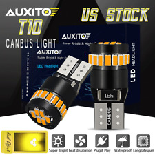 2X Amber T10 168 194 LED Front Side Marker Light Bulbs Yellow for GMC Chevy Ford