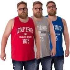 Camisetas de hombre en color principal azul 100% algodón sin mangas