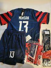 USA Morgan Lavelle Rapinoe  Kids Soccer Jersey Set 5-13 Years Old 2020 21 22