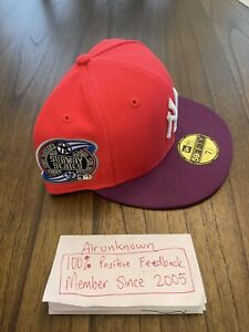 7 1/2 Hat Club Exclusive NY Yankees Jae Tips 2000 Subway Series Infrared Pink UV