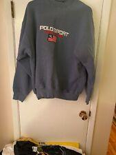 Vintage Polo Sport Ralph Lauren Spell Out Flag Crew Neck Sweatshirt Gray XL