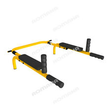 Adjustable Pull up Bars Set Chin Chinning Iron Bracket for Indoor Home Gym Sport