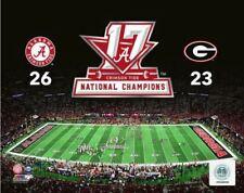 Alabama Crimson Tide 2017 New NCAA Football National Champions CFP 8x10 Photo