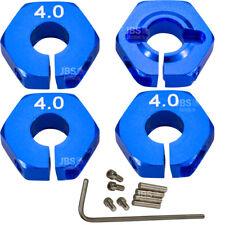► 1/10 Alu 4mm blau Radmitnehmer Rad Adapter 12mm Hex Sechskant reifen Tuning