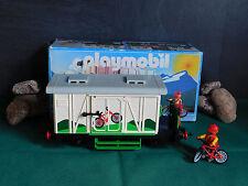 Playmobil Güterwagen geschlossen (Fahrrad-Waggon) 4115-A/1995 II mit OVP!