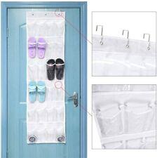 24 Pocket Clear Over The Door Shoe Pantry Closet Cabinet Organizer Rack Hanging