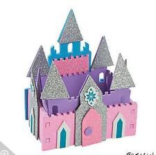3D Pretty Princess Castle Craft Kit Kids Gift Pink Purple Glitter AMAZING