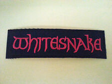 PUNK ROCK HEAVY METAL MUSIC SEW ON / IRON ON PATCH:- WHITESNAKE (a) RED STRIPE