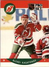 1990-91 PRO SET HOCKEY ALEXEI KASATONOV RC #169 NEW JERSEY DEVILS NMT/MT-MINT
