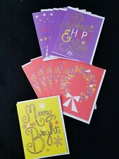 American Greetings Set of 12 Retro Glittery Christmas Cards 3 Designs