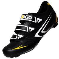 NEW EIGO THETA CYCLING SHOES - ROAD CYCLE BIKE TRIATHLON - BLACK - REDUCED!