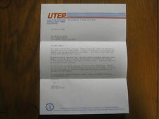 JANET  WOOD  Signed  1983 Personal Letter  UTEP Lady Miner Basketball Head Coach