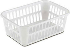 Sterilite Medium, White, Plastic Storage Basket 16088048