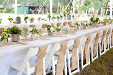 """30 Burlap Table Runners 14"""" x 72"""" Wedding Event 100% Natural Jute Made in USA"""