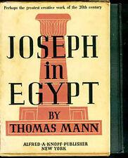 "1940 2vol Biblical ""Joseph in Egypt"" Pharaoh's Vizier Potiphar Amun Sheol Goshen"