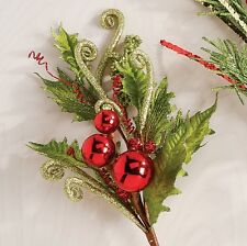Holly Ball Christmas floral spray rzchsn f3126072 NEW RAZ 22 inch