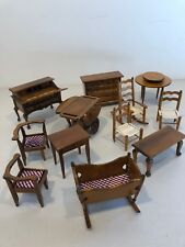 New Wooden dollhouse Furniture Lot Working Drawers Desk Dresser Crib Table Chair