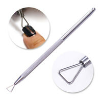 Stainless Steel Nail Cuticle Remover Pusher Manicure Pedicure Tool For UV Polish