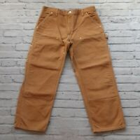 Vintage Carhartt Double Knee Canvas Work Pants Jeans Union Made in USA Wip Brown