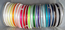 """Satin Ribbon Double Sided 6mm (1/4"""") wide 2 5 or 10m lengths Buy 4 Get 5th Free"""