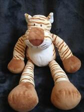 484-Peluche Doudou Tigre crème marron blanc - 39 cm - NICOTOY - Comme neuf