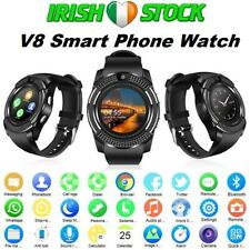2019 V8 Smart Watch Bluetooth SIM Phone Mate Pedometer Camera For Android/iOS