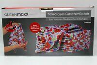 CLEANmaxx Geschirrtuch Mikrofaser Set 10- tlg Blumendekor