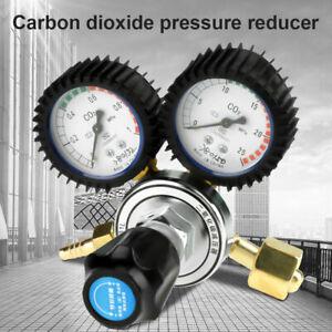 Gas Bottle CO2 Mig Tig Single Stage Dual Gauge Regulator Pressure Reducer UK New
