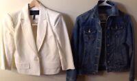 BCBG Max Azira XS White Blazer