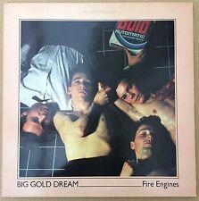 "Fire Engines - ""big gold dream"" 12"" EP producteur Bob Last GATEFOLD Pic Sleeve EX"