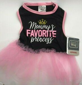 "Simply Wag Dog Tutu Dress ""mommy's FAVORITE Princess"" SMALL"
