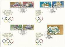 DDR FDC + Marken Olympische Spiele 1964-1976! Tokio, Mexiko, München, Montreal!