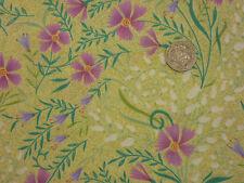 Colchas de retazos de tela Azules Lirio Del Valle De Los Claveles 100% Algodón cuarto gordo