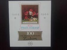 1968 -Romania-Celebrating 100 years of the Painter Stefan Luchian, Mi.Bk.66, MNH