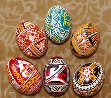6 Real UKRAINIAN Pysanky Easter EGGS / Egg / Pysanka