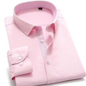 Men's Dress Shirts Luxury Long Sleeves Casual Formal Business Work Camisas Shirt