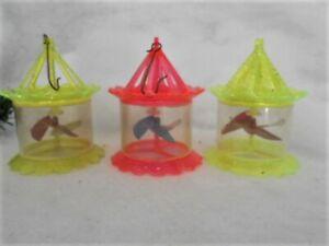 3 Vintage Christmas Twirlers Spinners - Twinklers ~ Birdcage Shape