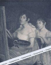 Johanna Schopenhauer und Tochter Adele - Andenkenblatt - um 1920 - selten