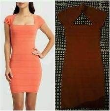 NWT GUESS BY MARCIANO RUST SHANE BANDAGE DRESS SIZE S