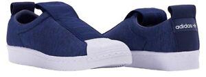 Adidas Superstar BW3S Slip On Sneaker in Navy Blue, Women Size 8