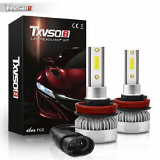 LED Headlight Bulb COB Chip H11 H9 H8 55W Conversion Kit 6000K Cool White Bright