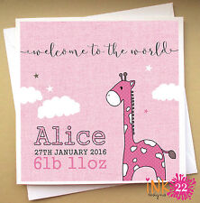 Personalised Card For New Baby 'Giraffe' Grandson, Granddaughter, Grandparents