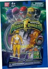 "Mighty Morphin Power Rangers Yellow 4"" with Light up Dino Fly 2010 New"
