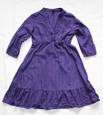 Purple 100% Cotton ONLY BOHEME ROCKISH 3/4 Sleeve Short Ladies Dress Size S / M